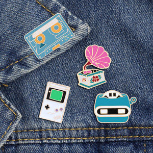 🌈2for$20! Retro Cassette & View Finder Pins DIY